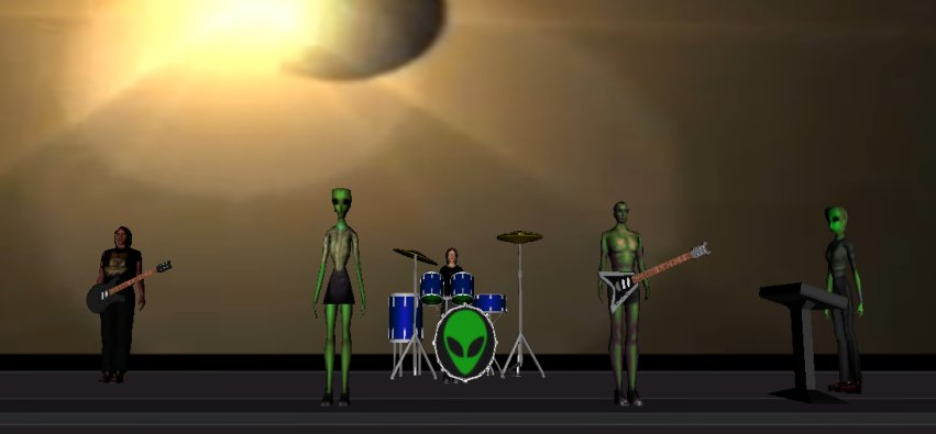 AlienXsyndicate virtual band's prototype.